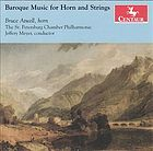 Baroque Music for Horn and Strings - FORSTER, C.