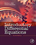 Introductory differential equations