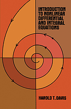 Introduction to nonlinear differential and integral equations.