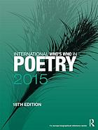 International who's who in poetry 2015.