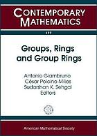 Groups, rings, and group rings : International Conference : Groups, Rings, and Group Rings, July 28-August 2, 2008, Ubatuba, Brazil
