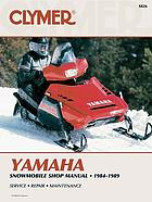 Yamaha snowmobile shop manual