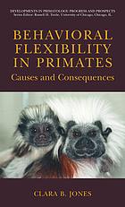 Behavioral flexibility in primates cover image