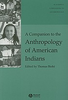 A Companion to the Anthropology of American Indians cover image