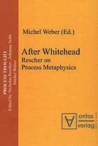 After Whitehead : Rescher on process metaphysics