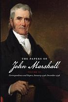 The papers of John Marshall, volume 3