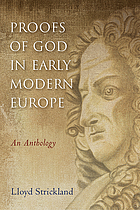 Proofs of God in early modern Europe: an anthology