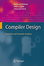 Compiler design : syntactic and semantic analysis