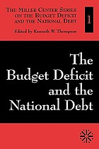 The budget deficit and the national debt