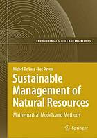 Sustainable management of natural resources : mathematical models and methods