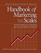 Handbook of marketing scales : multi-item measures for marketing and consumer behavior research