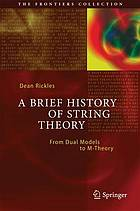A brief history of string theory. : from dual models to M-theory