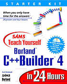 Sams teach yourself Borland C++ Builder 4 in 24 hours