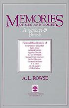 Memories of men and women, American and British