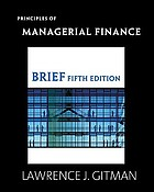 Principles of managerial finance : brief