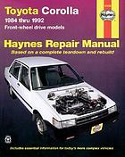 Toyota Corolla : automotive repair manual