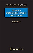 Jackson's Matrimonial finance and taxation.