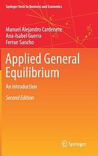 Applied General Equilibrium : an Introduction