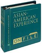 Asian-American experience on file