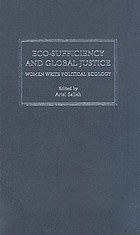 Eco-sufficiency & global justice : women write political ecology