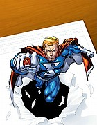 How to draw superpowered heroes supersize