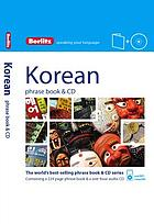 Korean phrase book & CD.