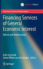 Financing services of general economic interest : reform and modernization
