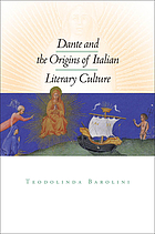 Dante and the origins of Italian literary culture