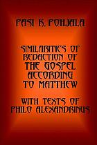 Similarities of redaction of the Gospel according to Matthew, with texts of Philo Alexandrinus