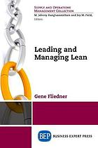 Leading and managing lean