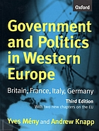 Government and politics in Western Europe : Britain, France, Italy, Germany ; [with two new chapters on the EU]