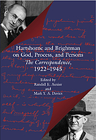 Hartshorne and Brightman on God, process, and persons : the correspondence, 1922-1945