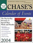 Chase's calendar of events, 2004.