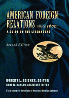 American foreign relations since 1600 : a guide to the literature