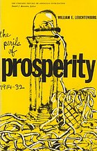 The perils of prosperity, 1914-32.