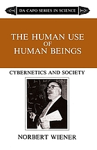The human use of human beings : cybernetics and society