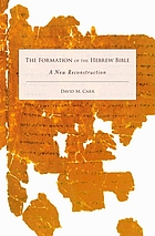 The formation of the Hebrew Bible : a new reconstruction