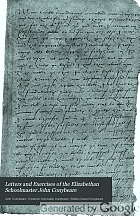 Letters and exercises of the Elizabethan schoolmaster John Conybeare, schoolmaster at Molton, Devon, 1580 and at Swimbridge, 1594,