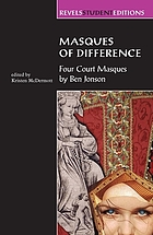 Masques of difference : four court masques