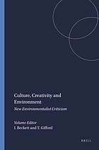 Culture, creativity and environment : new environmentalist criticism