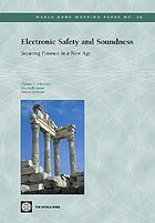Electronic safety and soundness : securing finance in a new age