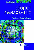 Project management : planning and control techniques