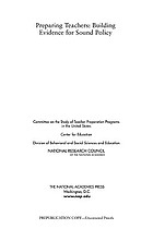 Preparing teachers : building evidence for sound policy
