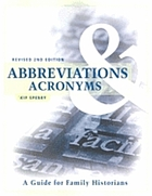 Abbreviations & acronyms : a guide for family historians