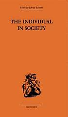 The individual in society : papers on Adam Smith