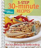3-step 30-minute recipes.
