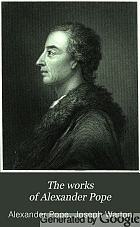 The works of Alexander Pope.