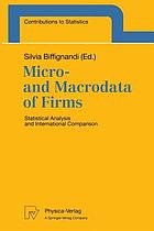 Micro- and macrodata of firms : statistical analysis and international comparison