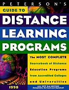 Peterson's distance learning programs