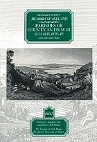 Ordnance Survey memoirs of Ireland
